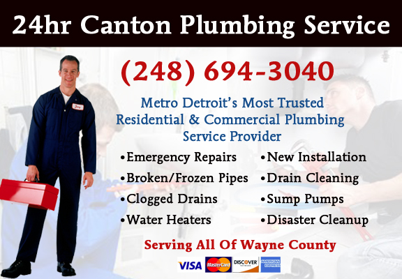 Emergency Plumbers Canton Michigan