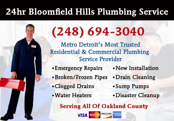 Bloomfield Hills Plumber Service